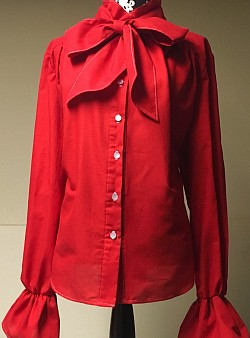 Delta red bow blouse {SM, MD, LG} ~$55